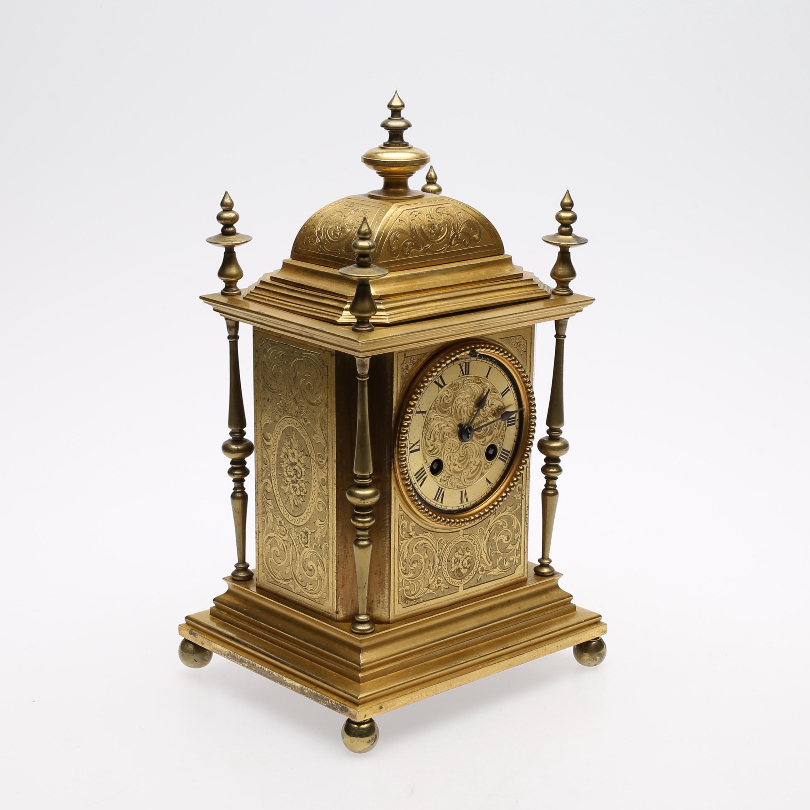 Bordspendyl Berger Paris Brons Med Cicelerad Clocks Watches Table Clocks Auctionet