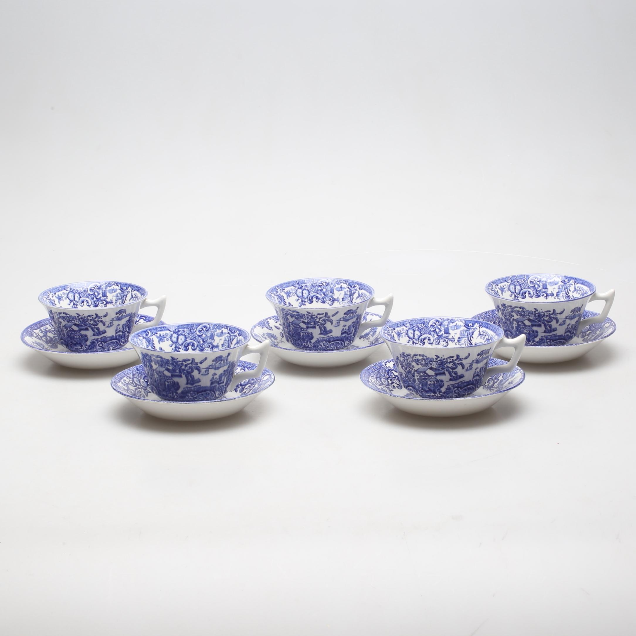 Bildresultat för vit blå kaffekopp