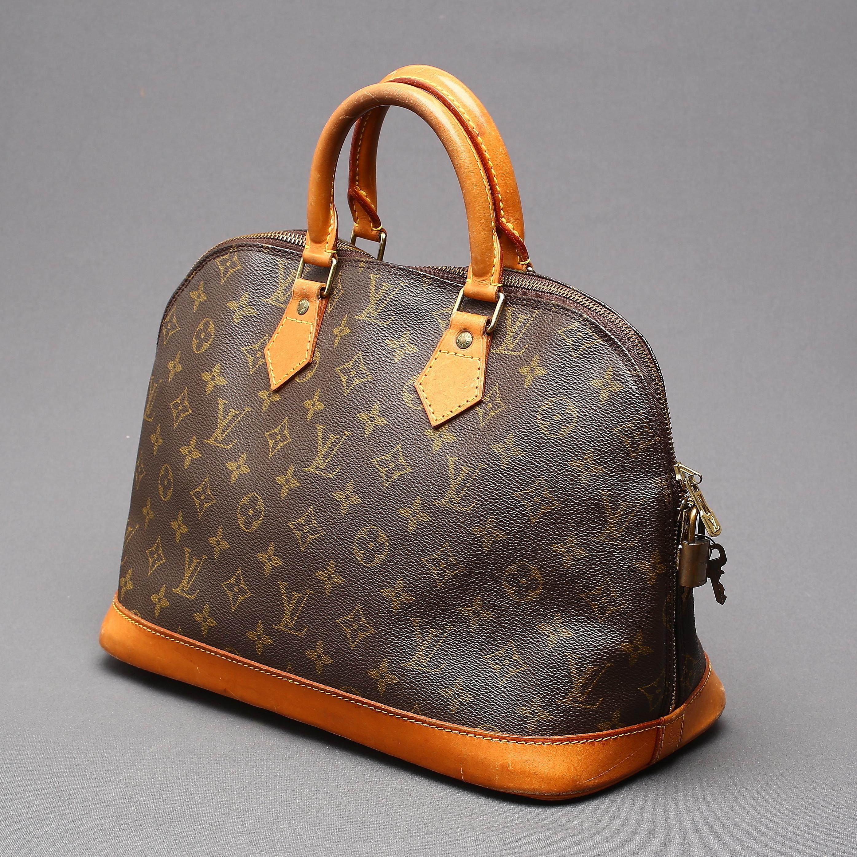 Louis Vuitton Handbag Alma Pm Monogram Canvas Paris France 1993 Vintage Clothing Accessories Auctionet