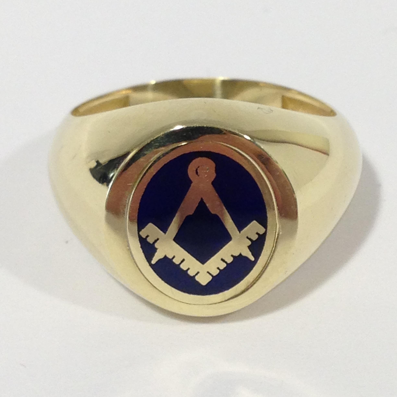 MASONIC ROTATING EMBLEM RING  Jewellery & Gemstones - Rings - Auctionet