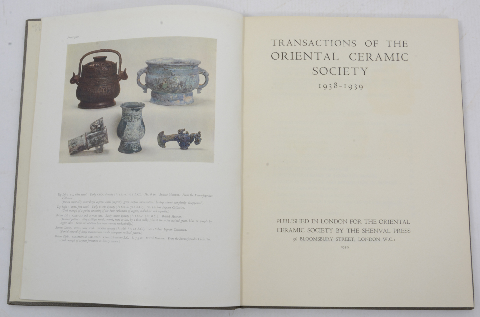 Images for 992348  transactions of the oriental ceramic