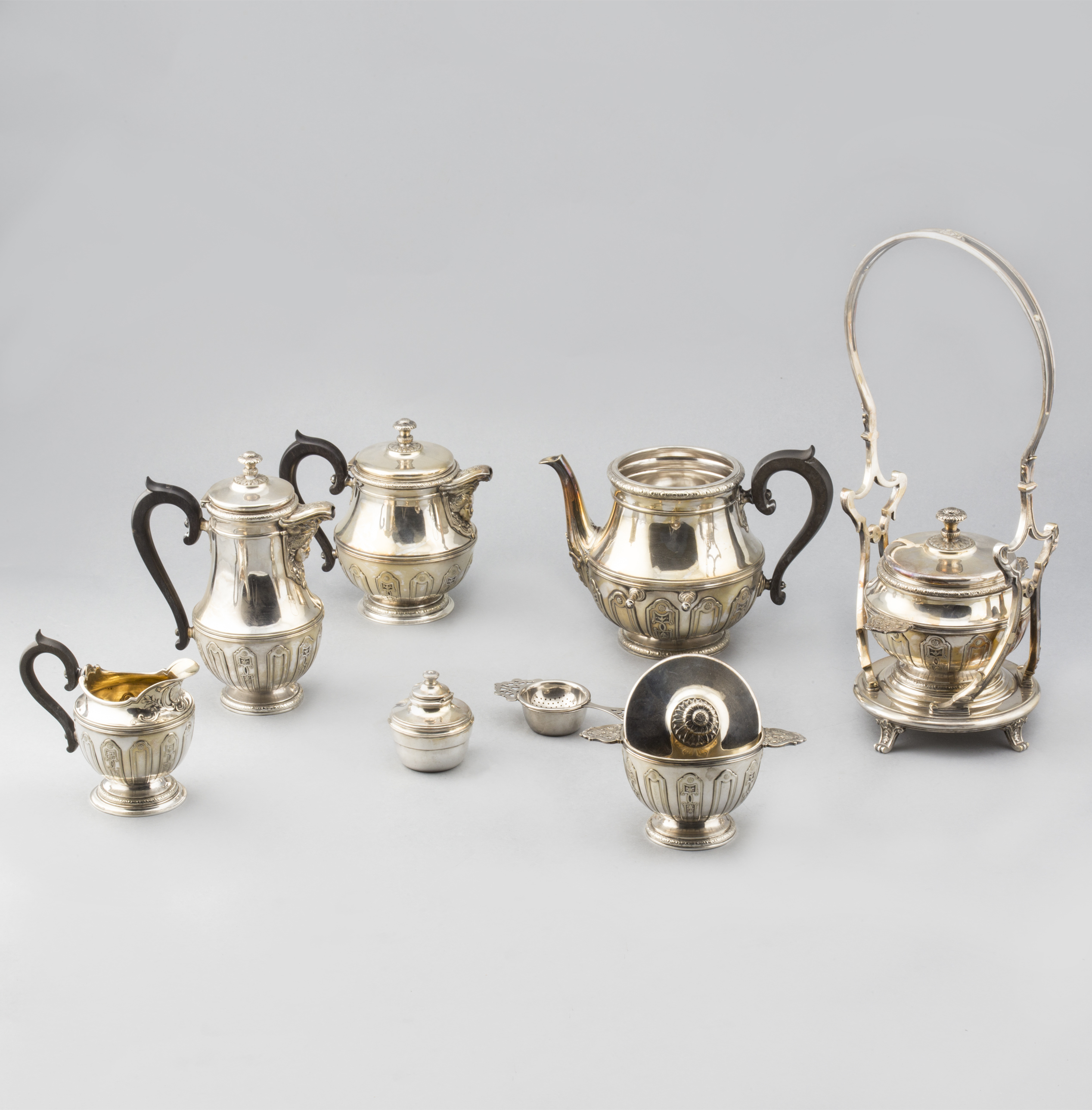 Coffee and tea set in Christofle silver-plated metal, early