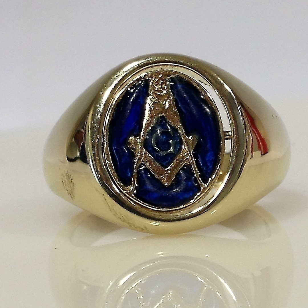 MASONIC RING  Jewellery & Gemstones - Rings - Auctionet